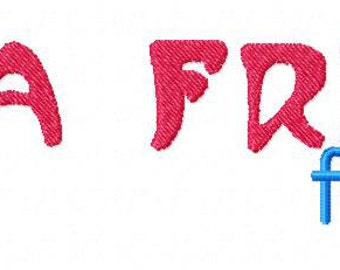INSTANT DOWNLOAD Mucha French Machine Embroidery Font Set Includes 3 Sizes
