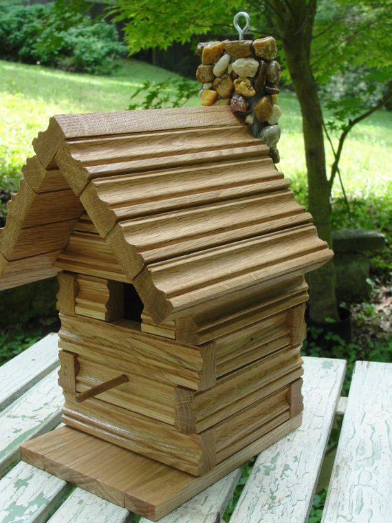 rustic log cabin birdhouses - photo #17