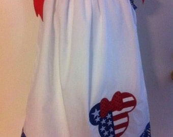 minnie 4th of july pillow case dress