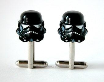 Star Wars Cufflinks - LEGO Shadow Trooper Cufflinks - Geek Wedding - Groomsmen Cufflinks - Gift for HIm - Best Man Gift - Star Wars Wedding