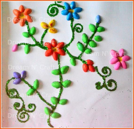 Peint Pistache Coques Fleur Tenture Murale Dcoration De La Maison
