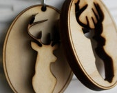 "Pair of ""My Deer Friend"" Wooden Laser-Cut Best Friend Necklaces - JDBmercantile"