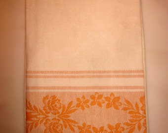 Linen kitchen towel from vintage French linen