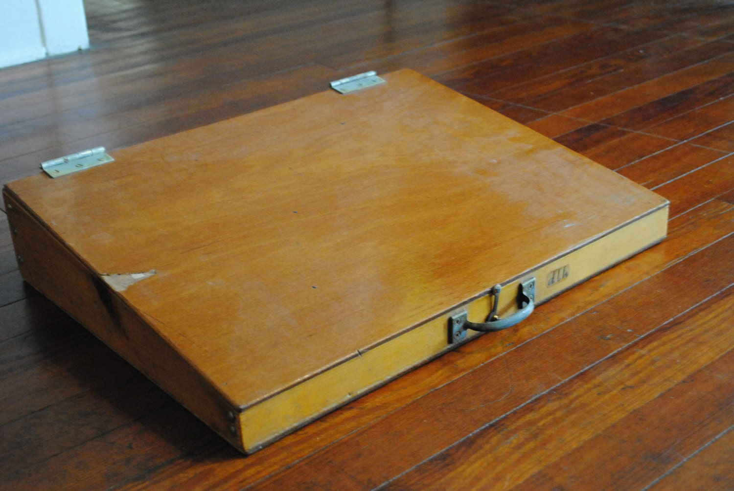 Vintage Wood Portable Writing Desk Jewelry Display By