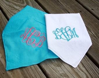 Monogrammed Handkerchief Wedding