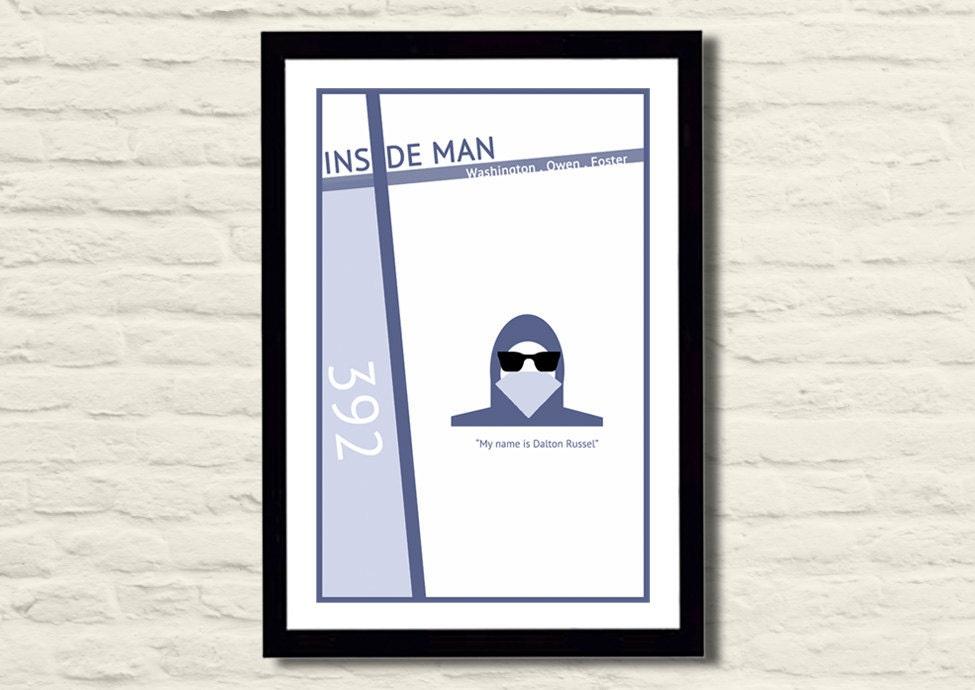 Inside Man Movie Poster Art Print 11 X 17 Modern Poster Home
