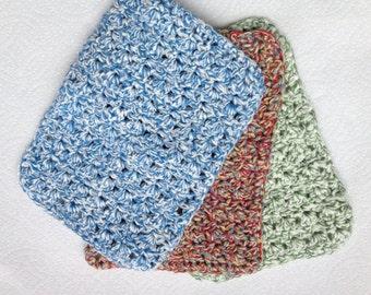 Crochet Dish/Wash Cloth- Set of 3