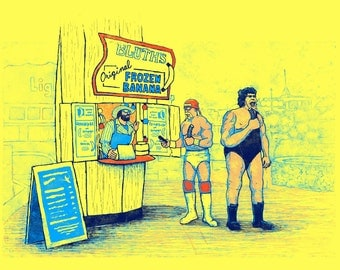 Arrested Development WWE Banana Stand Poster