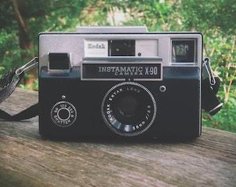 Kodak Instamatic X-90 Camera circa 1972 (126 instamatic film camera, vintage 70's camera, retro camera)