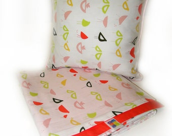 Modern Cot Quilt Cover for girls
