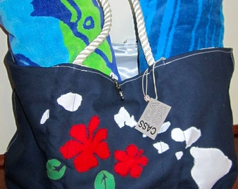 Hawaiian Beach Bag, Nautical Tote