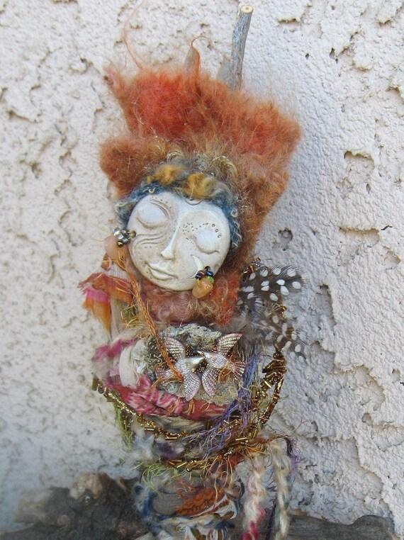Nest of endless light, Spirit Art Doll. Nest of Creativity  ooak