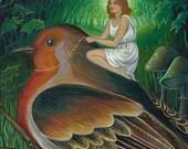 Twilight Flight - Surreal Fantasy Art 8x10 Print