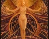 Initiation - Pagan Witch Goddess Art 5x7 Greeting Card