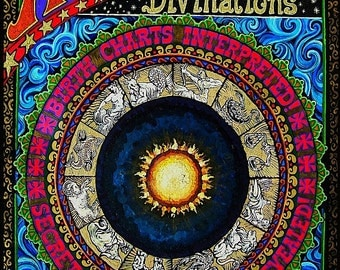 Astrological Divinations 8x10 Fine Art Print Psychedelic Gypsy Circus Pagan Goddess Art