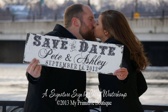 SAVE THE DATE Sign, Personalized Sign, Photo Prop, Save the Date Cards, Wedding Signs, Save the Date Signs, StD Sign, Custom Name Sign, Sign