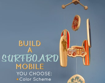 Baby Mobile | Surfboards | Customized Mobile | Beach Nursery | Surf Nursery