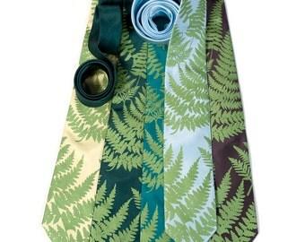Wedding Necktie Set. 5 groomsmen ties, 20% group discount, five person wedding party. Matching screenprinted design. Microfiber ties.