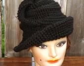 Crochet Pattern, Womens Crochet Hat Pattern, Womens Hat, Steampunk Hat, Crochet Wide Brim Hat Women, VIRGINIA