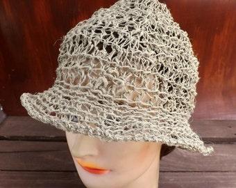 Crochet Sun Hat, Floppy Sun Hat, Floppy Hat, Womens Crochet Hat Womens Hat Trendy, Hemp Hat, 2 Inch Wide Brim Hat, Natural Hat, Shady Lady