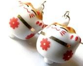 10% Off Sale Sumo Neko Cat Earrings Jewellery Kawaii Earrings