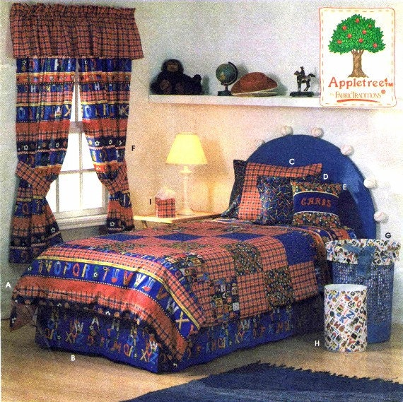 Twin Size Duvet Cover Dust Ruffle Curtains Pillows By