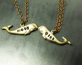 Personalize Whales Necklaces Gold