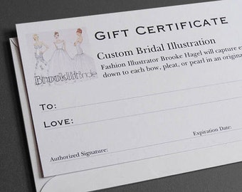 Custom Bridal Fashion Illustration-Gift Certificate-Brooke Hagel