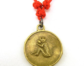 Chinese zodiac monkey necklace