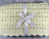 PDF Pattern Crocheted Baby Afghan, CAR SEAT Size and Newborn Size Blanket -- Vanilla Twist