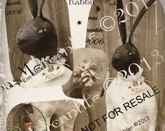 Instant Doll Pattern Rabbit Primitive Peter Bunny Download Animal Standing PDF Sewing Cloth Fabric Patterns Kim Kohler Veenas Mercantile