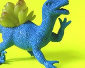 True Blue Dinosaur Planter Unique Home Decor Great Office Desk Decor