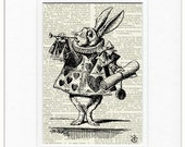 White Rabbit, Alice in Wonderland print