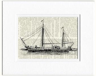 sail boat print