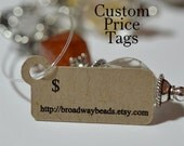 Tiny Price Tags Hang Tags for Jewelry Products Customized
