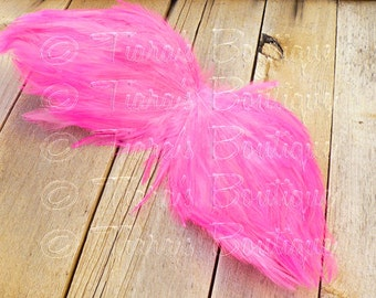 Angel Wings for Baby - Photo Prop Infant Feather Angel Wings in Hot Pink - Flamingo Wings - Fully Poseable for Newborn Photography