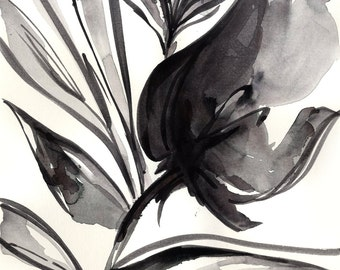 Bloom Dance ... Series No.1 ... Original Abstract Minimalist Floral Painting by Kathy Morton Stanion EBSQ