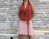 Organic Apron Wrap Shirt - ( light hemp and organic cotton knit ) - organic HEMP shirt
