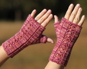 Instant download PDF knitting pattern Warm Hello fingerless mitts, mittens, gloves
