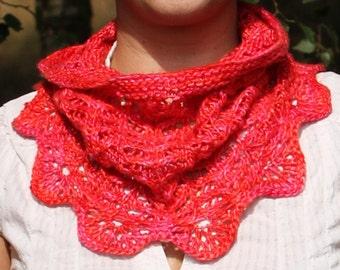 PDF knitting pattern scarf, scarflette, cowl, neckwarmer: Sweet Dreams