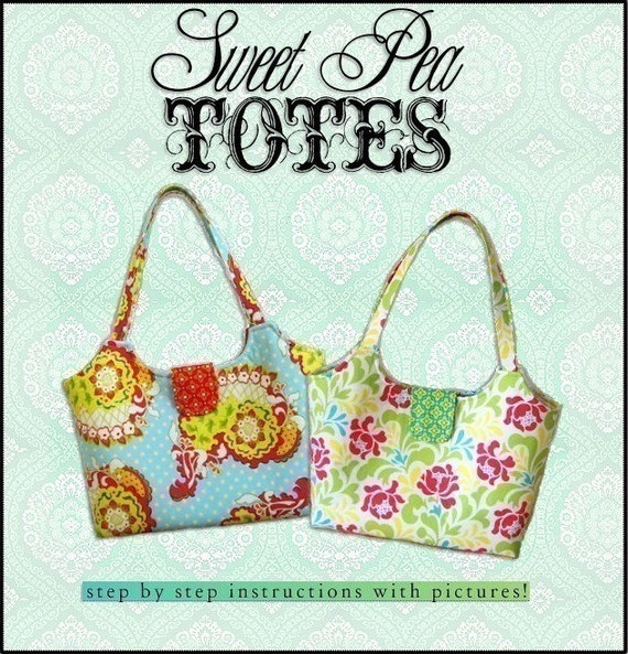 SIMPLE and CHIC  PDF Sewing Pattern / Sweet Pea Totes