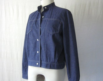 Denim Jacket Lightweight Chambray Womens Jacket Jean Jacket