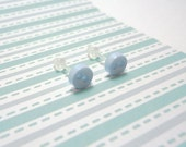 Light Blue Stud Earrings Baby Blue Color Mini Buttons Metal Free Acrylic Posts Hypoallergenic Posts Sensitive Ears Kawaii Earrings No Metal