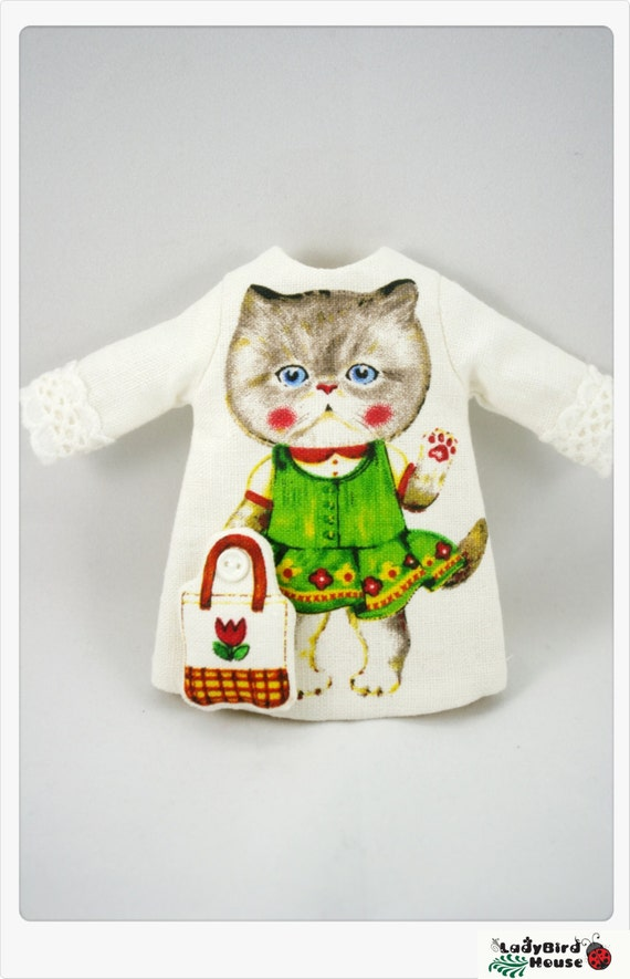 LADYBIRD HOUSE Blythe Outfit Cat Dress - A