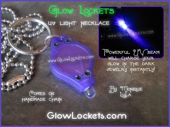Pocket Size UV Light Necklace Keychain for glow in the dark jewelry
