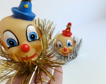 Vintage Clown Head Ornaments - sale