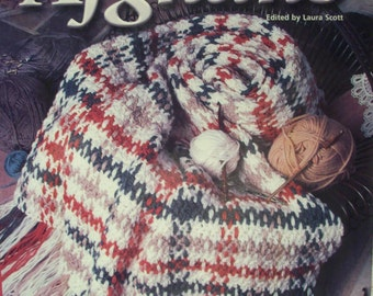 Hooked on Afghans, Crochet, Patterns,Supplies,Hardback, Book