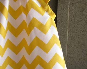 Dress - Yellow chevron zigzag girl baby toddler  0-3, 3-6, 6-12, 12-18, 18-24, 2t, 3t 4t 5t 6 7 photo shoot Spring Summer nautical birthday