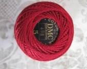 DMC Pearl/ Perle Cotton Balls Size 5 - 498 Dark Red