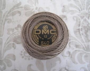 DMC 640 Very Dark Beige Gray Perle Cotton Thread Size 12